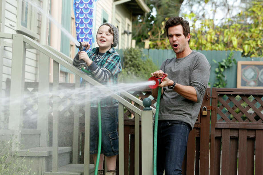 ABOUT A BOY -- Pilot -- Pictured: (l-r) Benjamin Stockham as Marcus, David Walton as Will -- Photo: NBC, Jordin Althaus/NBC / 2013 NBCUniversal Media, LLC
