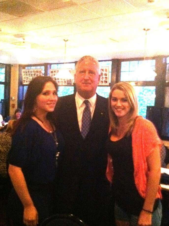 Were you Seen posing with Albany Mayor Jerry Jennings?   This is my daughter ( left) & her friend Kourtney at Martels celebrating my daughters 20 th birthday. Also one of the Mayors favorite spots . Rodger ( the owner) is great friends with my dad (Bindy & the mayor).   Submitted by Marylou Margiasso. Photo: Reader-submitted
