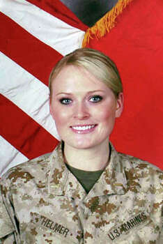 Submitted photos, Elle Helmer serving as a Marine. Photo: Courtesy,  Elle Helmer / San Antonio Express-News