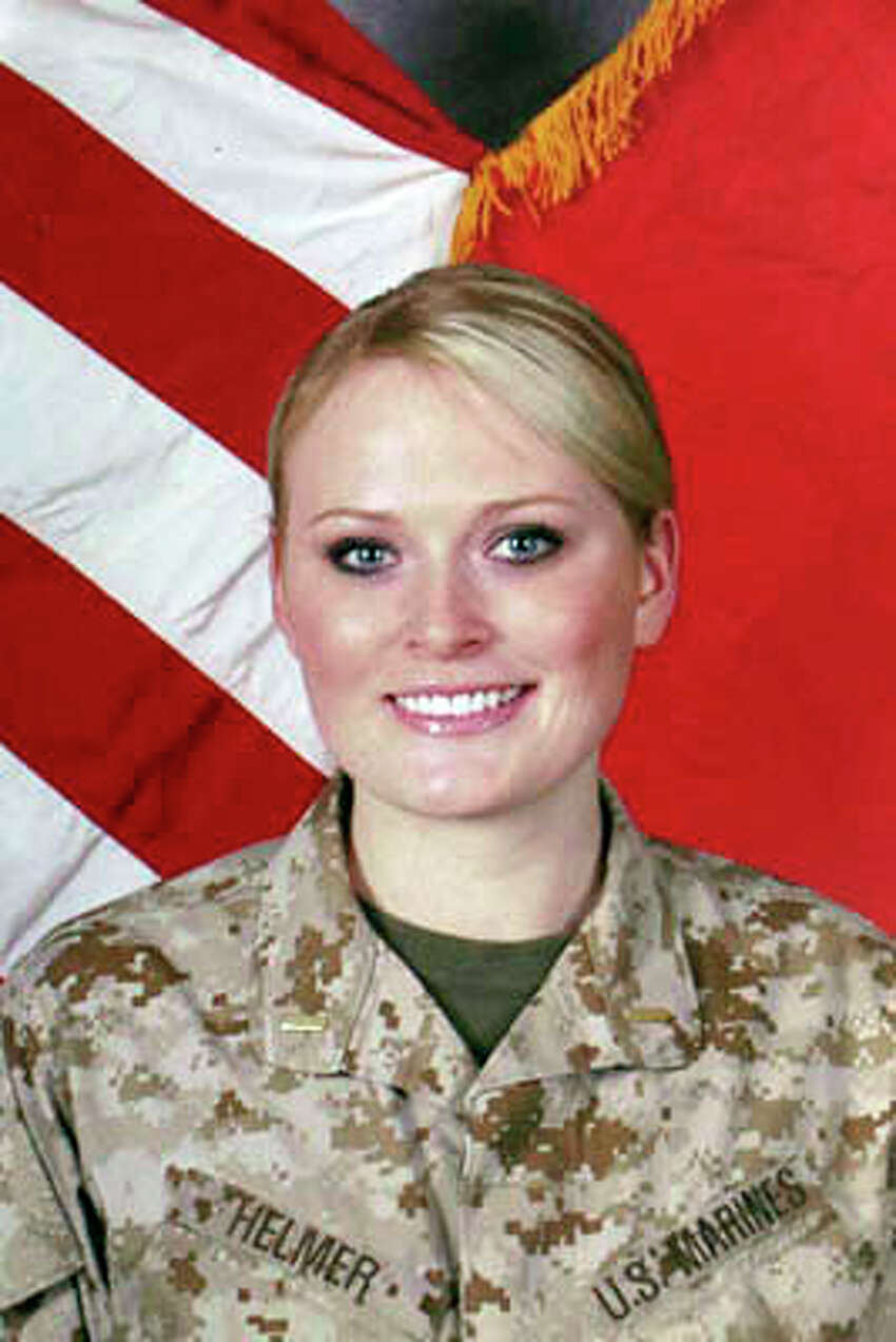 Submitted photos, Elle Helmer serving as a Marine.