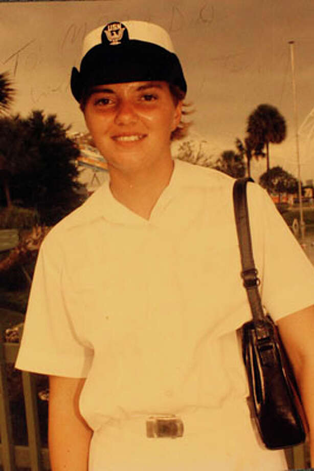 Submitted photo of Terri Odom in the Navy as a young woman. Photo: Lisa Krantz / San Antonio Express-News