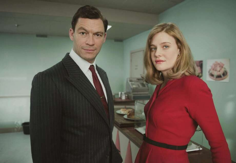 "Dominic West , and Romola Garai in ""The Hour.""  (AP Photo/Kudos Film and Television, Nick Wall)"