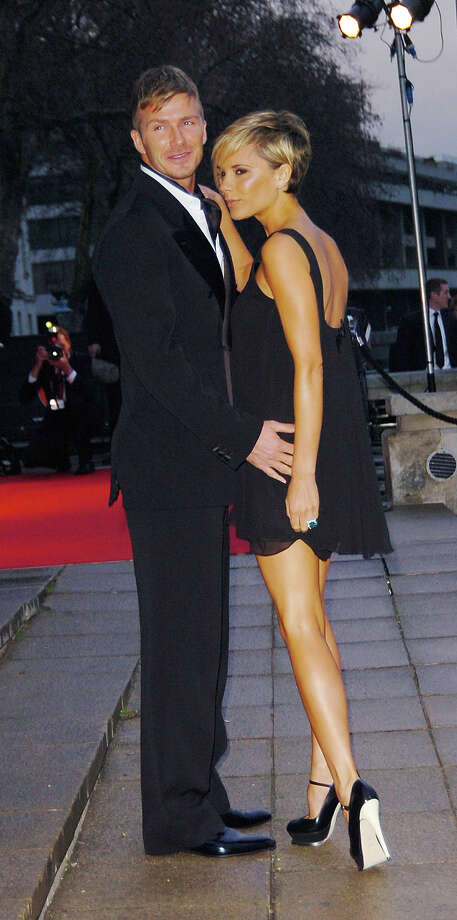 David Beckham and Victoria Beckham arrive at the Sport Industry Awards in London in 2007 Photo: Sylvia Linares, FilmMagic / FilmMagic