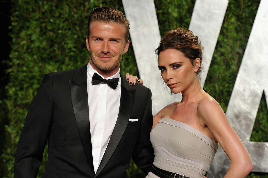 Athlete David Beckham and fashion designer Victoria Beckham arrive at the 2012 Vanity Fair Oscar Party hosted by Graydon Carter at Sunset Tower on February 26, 2012 in West Hollywood, California. Photo: John Shearer, WireImage / 2012 WireImage