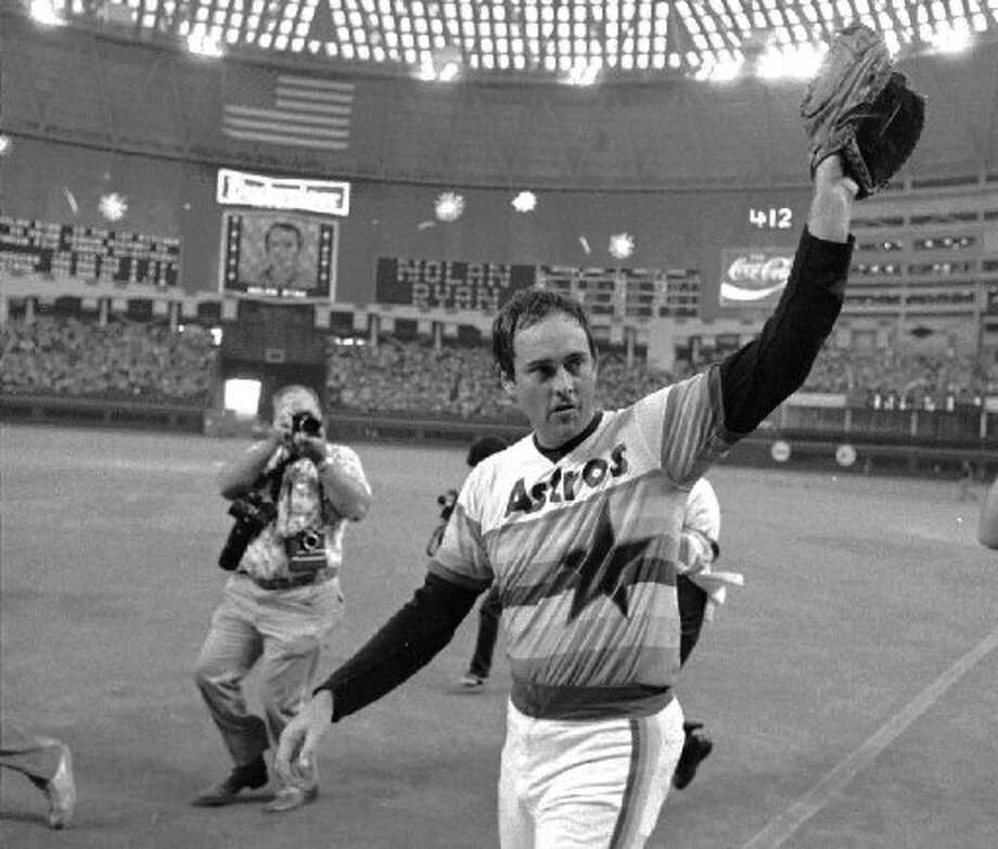 Nolan Ryan picks up his fifth career no-hitter. Photo: Tim Johnson, AP