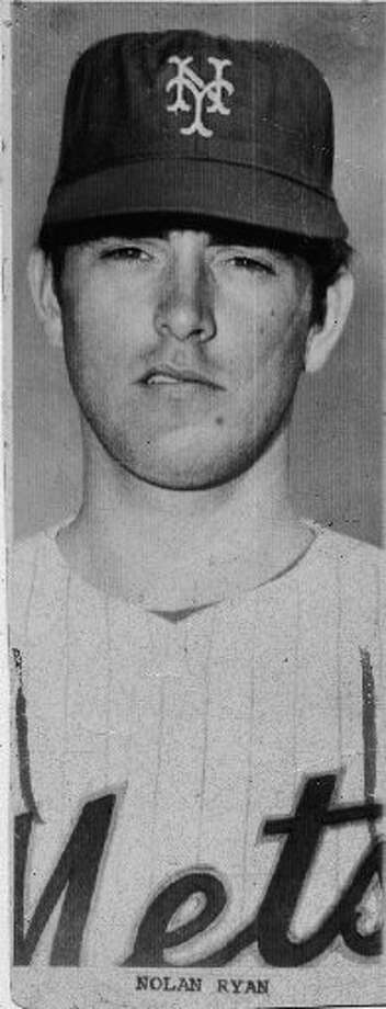 Nolan Ryan spent five seasons with the Mets (1966-1971). Photo: Handout From Houston Chronicle Files