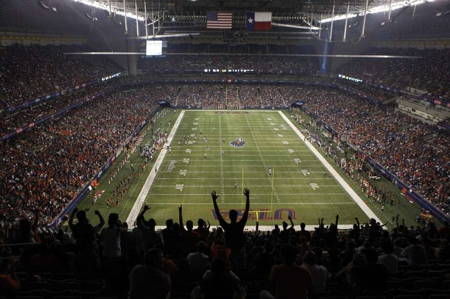 Fans cheer during UTSA's inaugural football game against Northeastern State at the Alamodome on Saturday, Sept. 3, 2011.