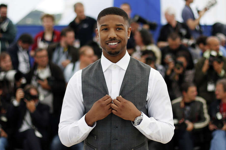 "US actor Michael B. Jordan gestures on May 16, 2013 while posing during a photocall for his film ""Fruitvale Station"" presented in the Un Certain Regard section at the 66th edition of the Cannes Film Festival in Cannes. Cannes, one of the world's top film festivals, opened on May 15 and will climax on May 26 with awards selected by a jury headed this year by Hollywood legend Steven Spielberg. Photo: LOIC VENANCE, AFP/Getty Images / 2013 AFP"