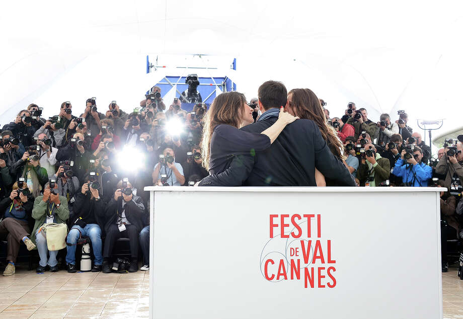 (L-R) Actress Geraldine Pailhas, Director Francois Ozon and Marine Vacth attend the 'Jeune & Jolie' Photocall during the 66th Annual Cannes Film Festival at the Palais des Festivals on May 16, 2013 in Cannes, France. Photo: Pascal Le Segretain, Getty Images / 2013 Getty Images