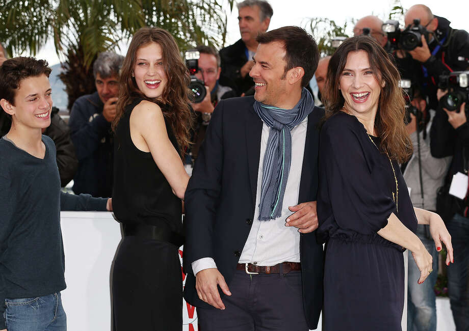 (L-R) Actor Fantin Ravat, Actress Marine Vacth Director Francois Ozon and Actress Geraldine Pailhas attend the 'Jeune & Jolie' Photocall during the 66th Annual Cannes Film Festival at the Palais des Festivals on May 16, 2013 in Cannes, France. Photo: Andreas Rentz, Getty Images / 2013 Getty Images