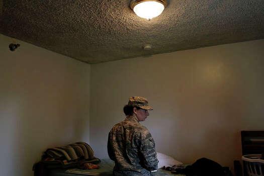 Myah Bilton-Smith prepares to leave the Air Force. Photo: Lisa Krantz / San Antonio Express-News