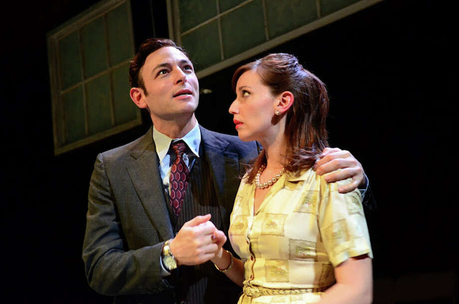 "New Fairfield native Matthew LaBanca, starring as Mr. Lyons, performs with Marisa Devetta, as Mrs. Lyons, in a scene from ""Blood Brothers."" Photo: Contributed Photo"