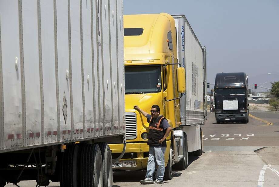 The vibrant commerce between California and Mexico is reflected at the commercial truck crossing in San Diego. A more robust partnership with our southern neighbor would have benefits on both sides of the border. Photo: Monica Almeida, New York Times