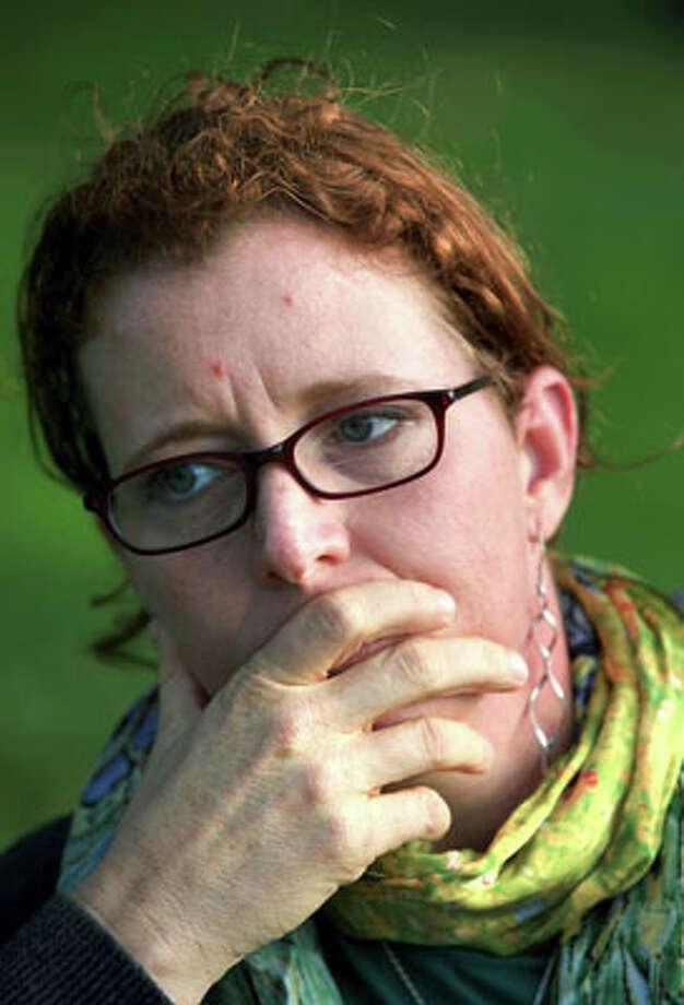 Jenny McClendon discusses sexual assaults by fellow sailors, on Saturday, Oct. 18, 2012 in Washington DC. Photo: BOB OWEN, Bob Owen / © 2012 San Antonio Express-News
