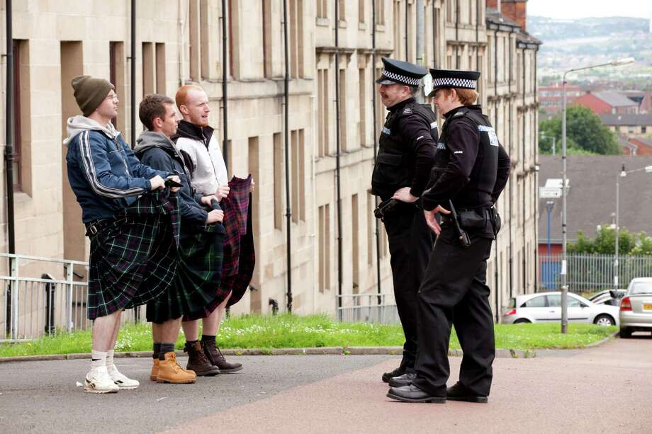 "An undated handout photo of a scene from Ken Loach's ""The Angels' Share."" Loach's film is about four unemployed Scottish scofflaws who cook up a scheme to steal a valuable cask of whisky. (Joss Barratt/Sixteen Films via The New York Times) -- NO SALES; FOR EDITORIAL USE ONLY WITH STORY SLUGGED FILM-LOACH-ADV07 BY GRAHAM FULLER. ALL OTHER USE PROHIBITED. -- PHOTO MOVED IN ADVANCE AND NOT FOR USE - ONLINE OR IN PRINT - BEFORE APRIL 07, 2013. Photo: JOSS BARRATT / SIXTEEN FILMS"