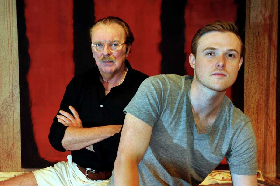 "Actors Kevin McGuire, who portrays Mark Rothko, left, and David Kenner, who portrays Ken, pose on the set of ""Red"" on Tuesday, April 30, 2013, at Capital Repertory Theater in Albany, N.Y. (Cindy Schultz / Times Union) Photo: Cindy Schultz / 10022212A"