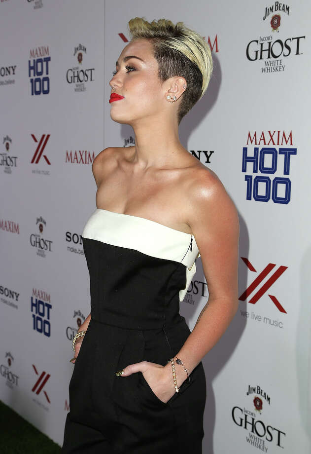 Singer/actress Miley Cyrus arrives for Maxim's Hot 100 Celebration on May 15, 2013 in Hollywood, California. Photo: Chelsea Lauren, WireImage / 2013 WireImage