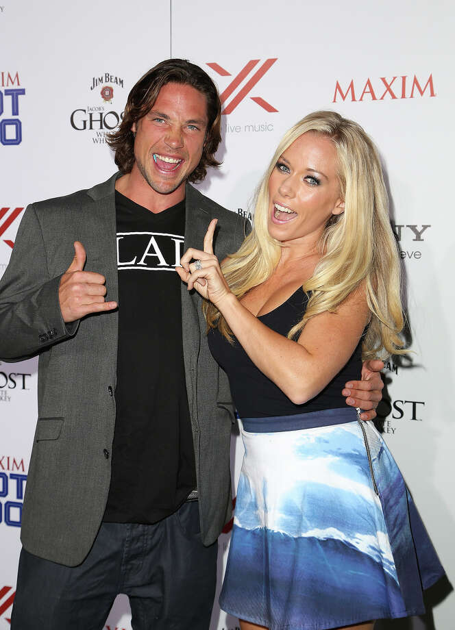 Pro skier Rory Bushfield and actress Kendra Wilkinson arrive for Maxim's Hot 100 Celebration at The Vanguard on May 15, 2013 in Los Angeles, California. Photo: Chelsea Lauren, WireImage / 2013 WireImage