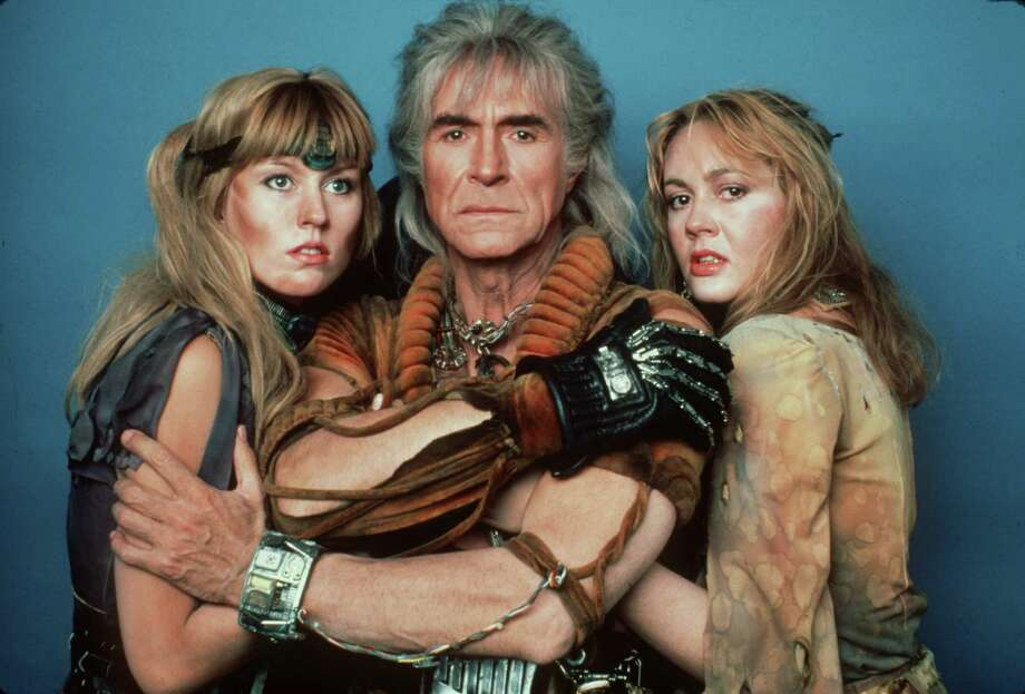 "Ricardo Montalban in ""Star Trek 2: The Wrath of Khan""  HOUCHRON CAPTION (12/10/1998):  KHAN (RICARDO MONTALBAN) AND HIS FOLLOWERS CAUSE HAVOC IN 1982'S STAR TREK II: THE WRATH OF KHAN.   HOUCHRON CAPTION  (08/08/2002):  RICARDO MONTALBAN AS KHAN HAS HIS SUPPORTERS IN ""STAR TREK II. THE WRATH OF KHAN. THE FILM IS AVAILABLE IN A ""DIRECTOR'S EDITION"" DVD THIS WEEK. Photo: BRUCE BIRMELIN / Handout slide"