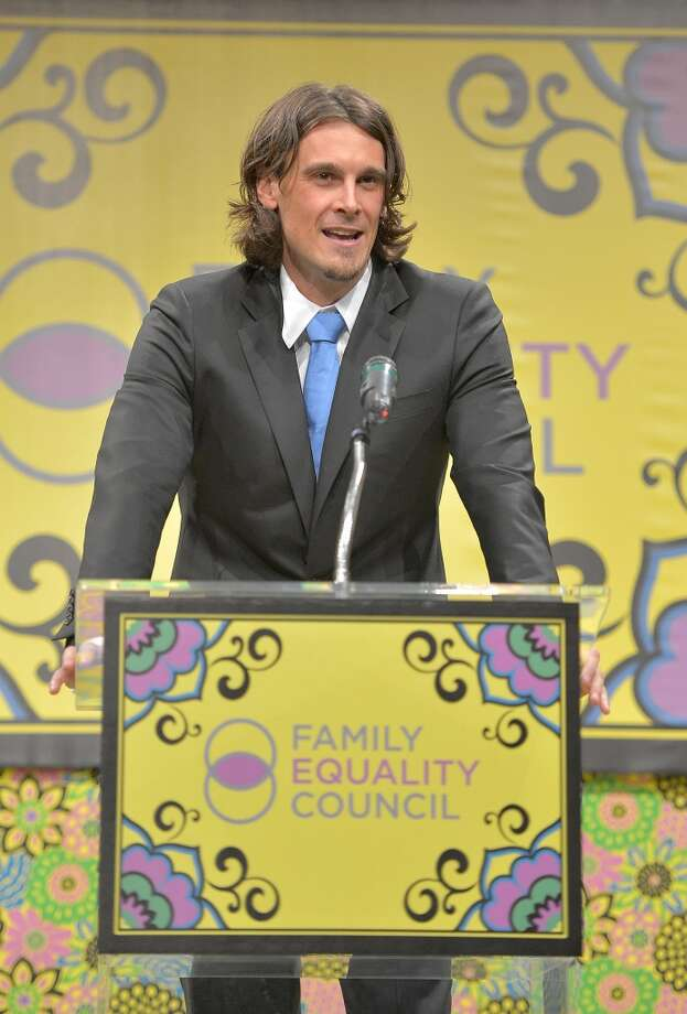 Honoree Chris Kluwe on stage at the Family Equality Council LA Awards Dinner at The Globe Theatre at Universal Studios on February 9, 2013 in Universal City, California.