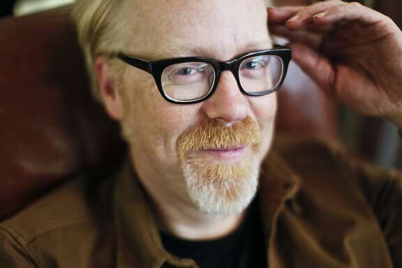 """Adam Savage, one of the hosts of the television show, """"Mythbusters,"""" is seen in his Mission district workshop known as, """"The Cave,"""" on Monday, April 29, 2013 in San Francisco, Calif."""