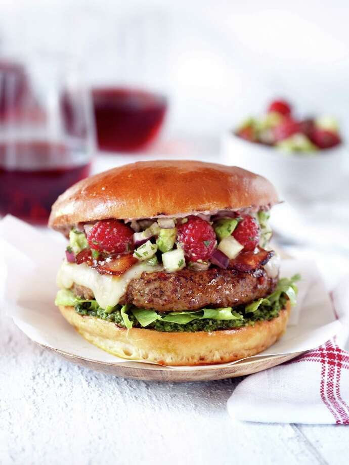 The Razzle Dazzle Burger by Janette Nowak of Spring is a finalist for the Sutter Home Build a Better Burger Recipe Contest in St. Helena, Calif., on Saturday. Photo: Sutter Home / Sutter Home