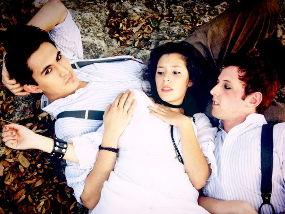 """Travis Trevino, Mariela Flor Olivo and Trevor Chauvin play lead roles in the Playhouse staging of """"Spring Awakening."""" Courtesy Dwayne Green"""