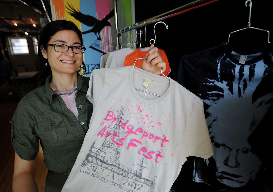 Liz Squillace, of Bridgeport, owner of screenprinter Paradox, Inc. opened her business at the Arcade building in downtown Bridgeport, Conn. as part of the state pilot program CreateHereNow. Photo: Brian A. Pounds / Connecticut Post