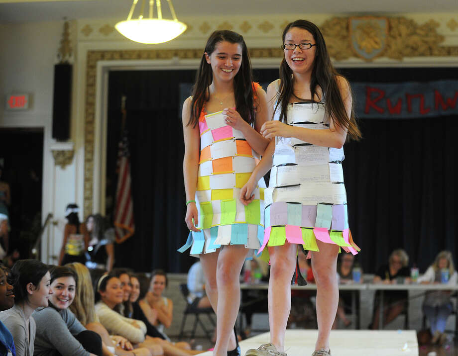 The Environmental Club's annual Eco Fashion Show at Lauralton Hall in Milford, Conn. on Thursday, May 16, 2013. Photo: Brian A. Pounds / Connecticut Post