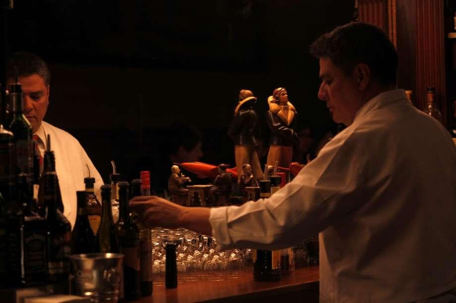 Bartender Ernie Evangelista at Tosca Cafe.