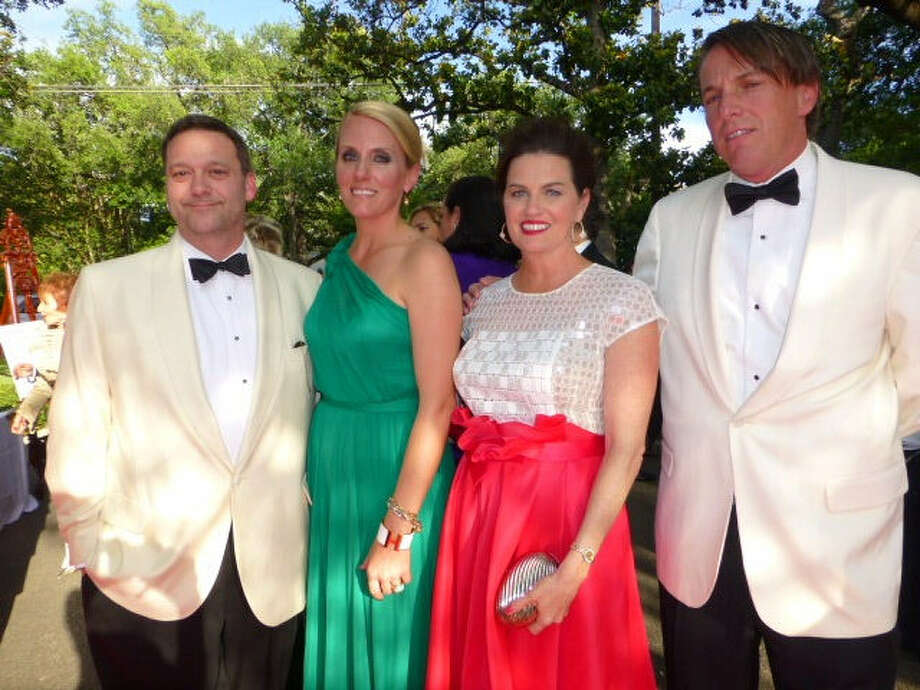 Kelton and Melissa Morgan (from left) enjoy the 43d annual Texas Biomed gala with Julie and Peter Zacher at the Argyle Club. Photo: Nancy Cook-Monroe / For The Express-News