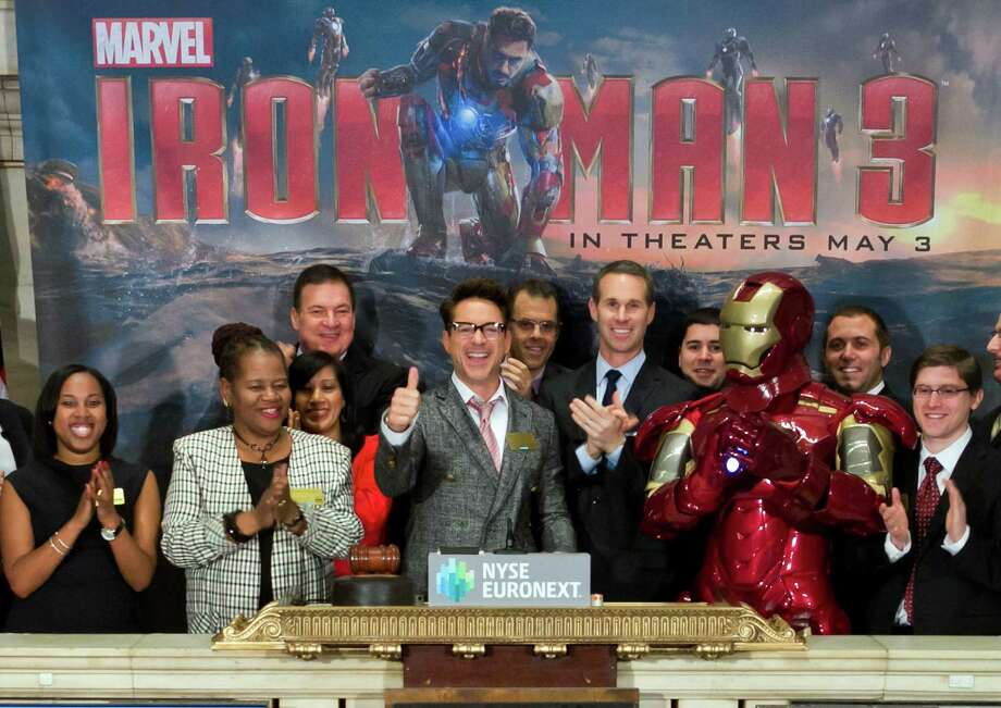 """Let's give """"Iron Man 3"""" and its star, Robert Downey Jr. (center), a round of applause for modeling good dietary behavior on the big screen. Photo: Ben Hider, Associated Press"""
