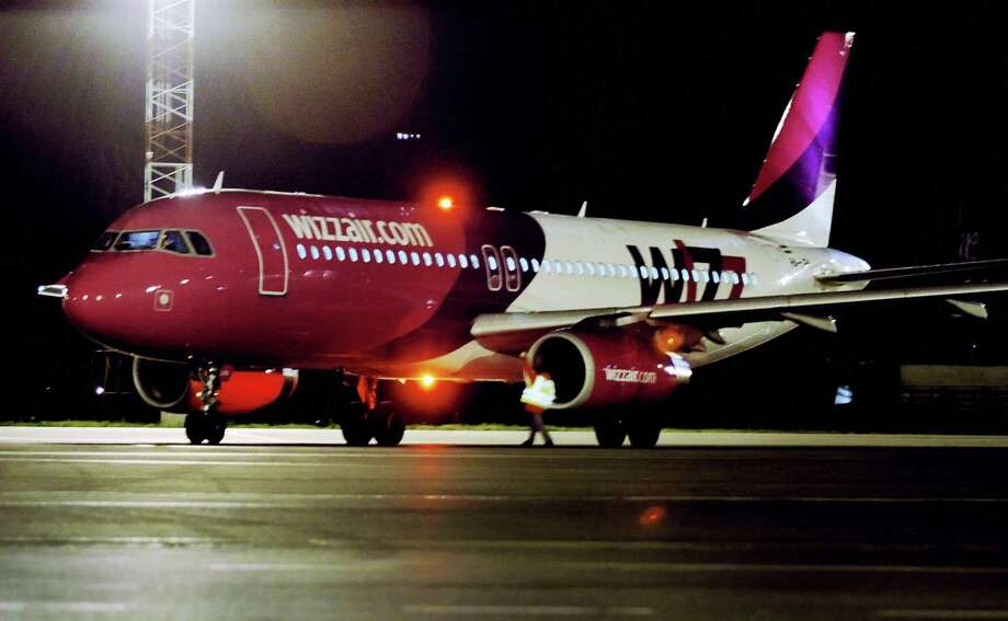 Sticking with the whimsical theme, here's Wizz Air, a low-cost carrier based in Hungary. Photo: VALENTINA PETROVA, AFP/Getty Images / 2005 AFP