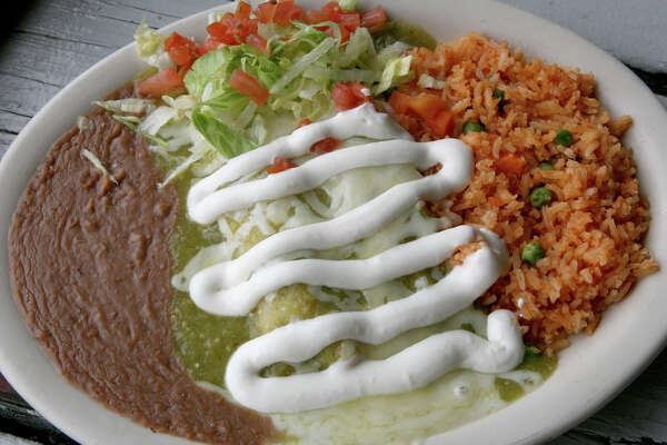 El Milagrito Cafe at 521 E. Woodlawn Ave. offers green enchiladas.