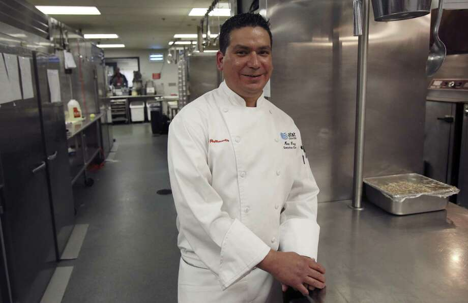 Executive Chef Marc Cruz runs the kitchen at the AT&T Center where he feeds those sitting in Express Jets courtside seats, suites and the Terrace Club level, as well as the Spurs and their opponents after home games.