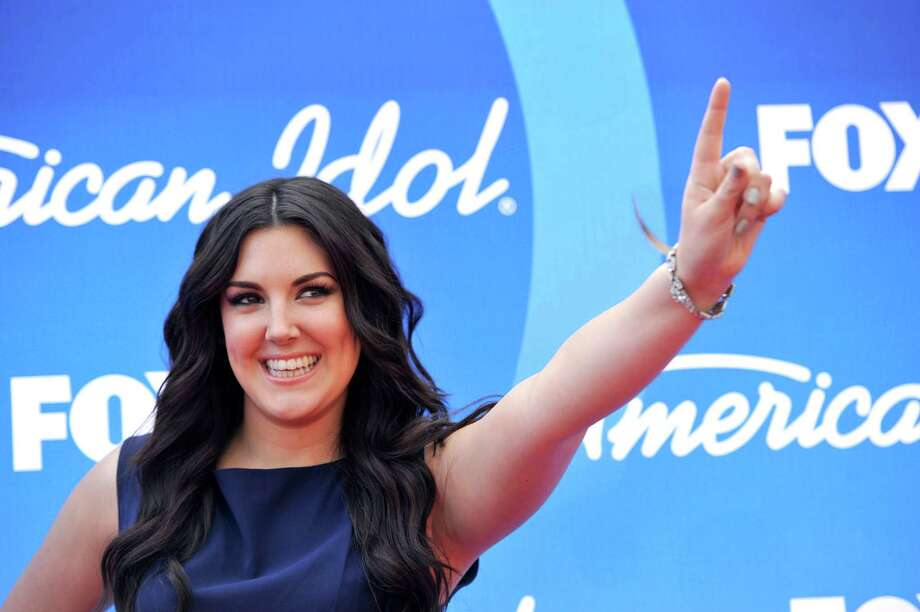"Kree Harrison arrives at the ""American Idol"" finale at the Nokia Theatre at L.A. Live on Thursday, May 16, 2013, in Los Angeles. (Photo by Chris Pizzello/Invision/AP) Photo: Chris Pizzello, INVL / Invision"