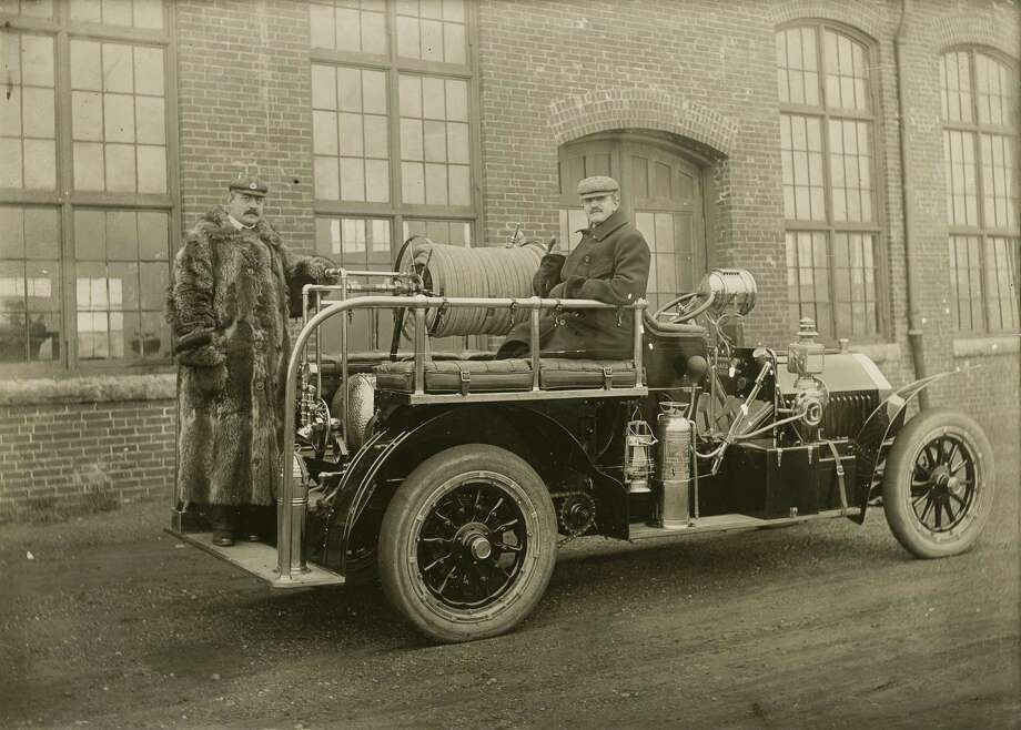 """Connecticut Inventions & Innovations,"" a new exhibit at Bridgeport's Discovery Museum, includes this photo of a Bridgeport fire truck from the early 1900s. Photo: Contributed Photo"