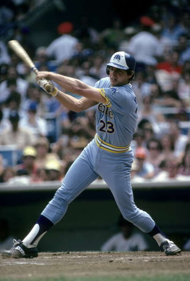 1980: July 3 – Mariners 13, at Kansas City Royals 2  Third baseman Jim Anderson and catcher Larry Cox had a home run each and the Mariners scored seven points in the eighth inning.  Photo: Focus On Sport, Getty Images / 2008 Focus on Sport