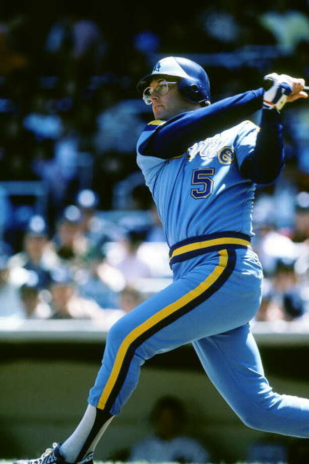 1981: Aug. 14 – Mariners 13, at Minnesota Twins 3  In the second game of a double-header, the M's jumped to a 6-0 lead after two innings and kept piling it on. Right fielder Jeff Burroughs hit three home runs and drove in six runs as the M's finished with 18 hits.  Photo: Rich Pilling, MLB Photos Via Getty Images / 1981 Rich Pilling