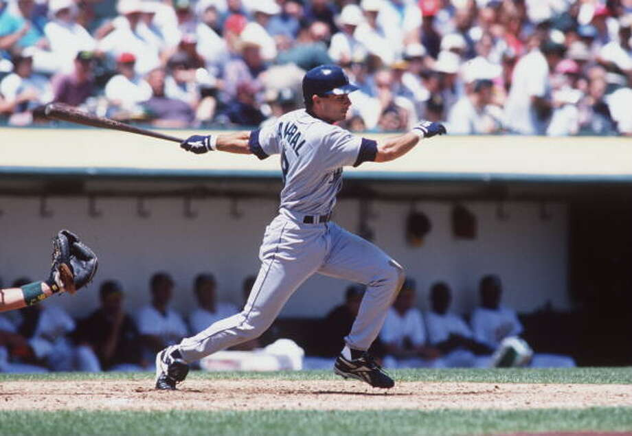1996: June 28 – Texas Rangers 8, at Mariners 19  Joey Cora was 4-for-6 with two triples and three RBI; Edgar Martinez, Dan Wilson and Brian Hunter each homered; and Luis Sojo went 5-for-6 in this decisive victory. The 1996 Mariners also had a notable 18-8 victory over the Twins on June 11 in Minnesota.  Photo: Otto Greule Jr, Getty Images / Getty Images North America