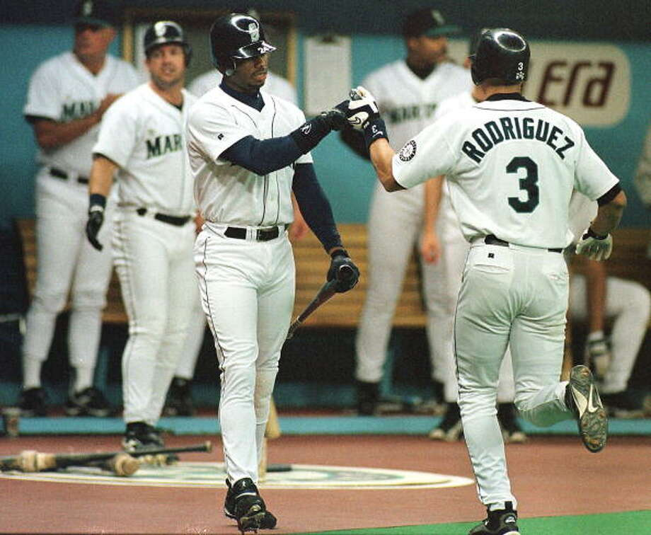 1998: July 17 – Kansas City Royals 5, at Mariners 18Seattle led 11-3 after four innings, boosted by home runs from Alex Rodriguez, Jay Buhner and Dan Wilson -- the last of whom finished the game 3-for-4 with six RBI.  Photo: DAN LEVINE, AFP/Getty Images / AFP