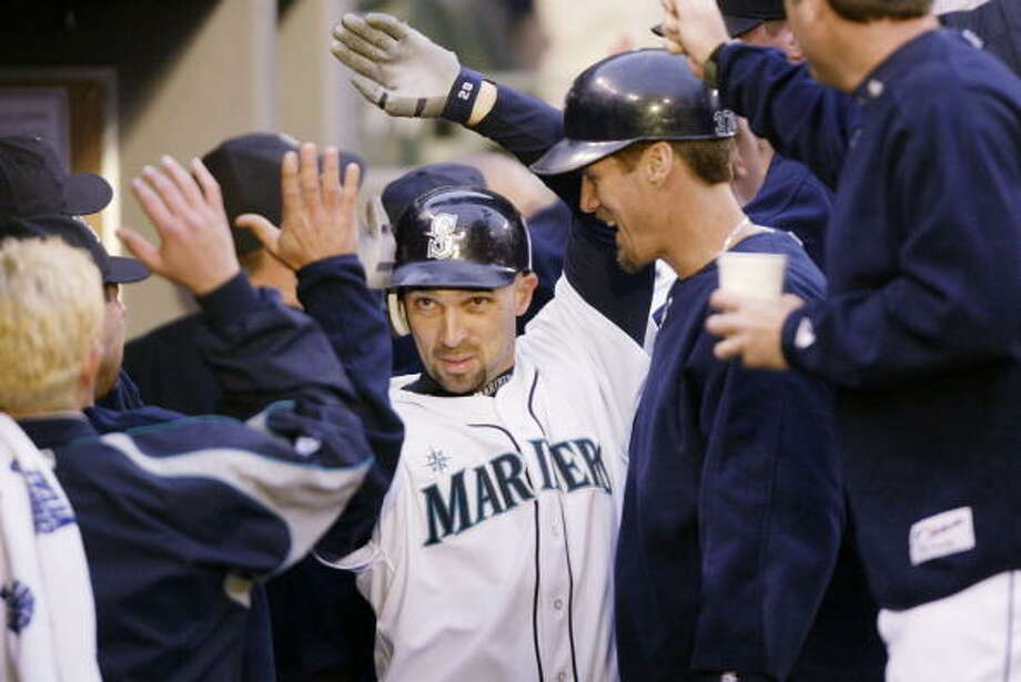 2005: Two games with 14 runs  May 13 – Boston Red Sox 7, at Mariners 14  Friday the 13th was good luck for the Mariners in 2005. They got homers from Adrian Beltre, Richie Sexson and Raul Ibanez; Ichiro hit a triple; and Wiki Gonzalez had two doubles.   June 24 – Mariners 14, at San Diego Padres 5  Bret Boone went 3-for-4, Mike Morse was 3-for-3 and Richie Sexon homered in this one. Ichiro Suzuki, Randy Winn and Boone each tripled, and the M's finished with 17 hits.  Photo: Otto Greule Jr, Getty Images / 2005 Getty Images