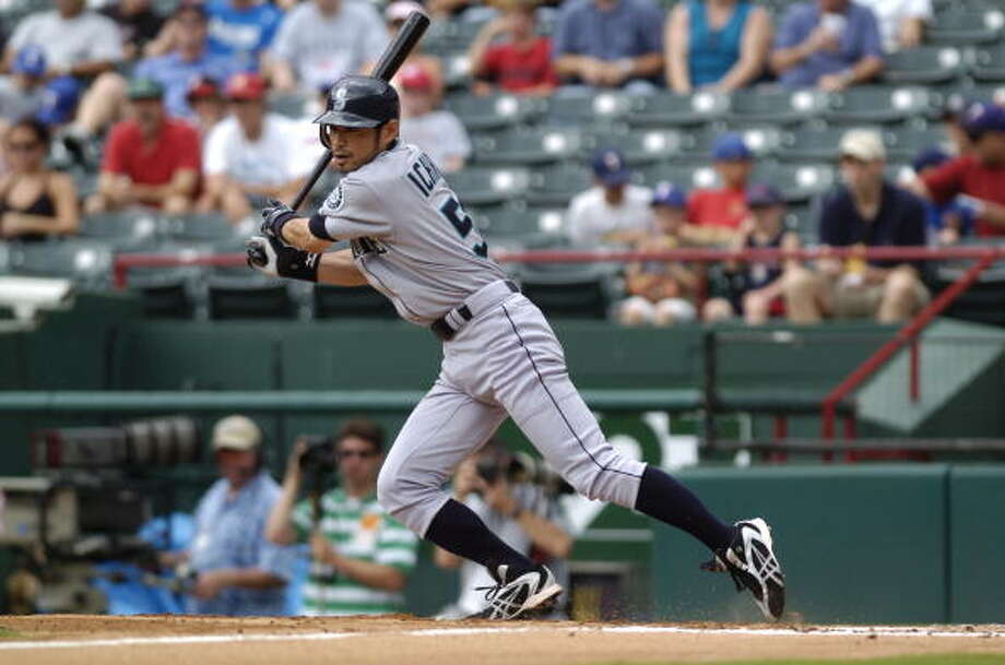 2006: May 13 – Mariners 14, at Texas Rangers 5  Everyone got a hit and the M's finished with 18. Raul Ibanez homered and led with four RBI, Ichiro Suzuki was 3-for-5 with four runs and pitcher Felix Hernandez picked up the win.  Photo: John Williamson, MLB Photos Via Getty Images / 2006 MLB Photos