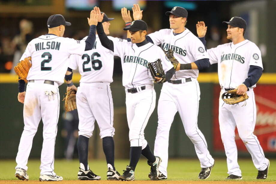 2011: April 19 – Detroit Tigers 3, at Mariners 13  The M's scored four in the first, two in the fourth and five in the seventh before adding two more in the eighth. Ichiro Suzuki was 4-for-5 with two doubles, and Chone Figgins was 3-for-4 with a double and three RBI.  Photo: Otto Greule Jr, Getty Images / 2011 Getty Images