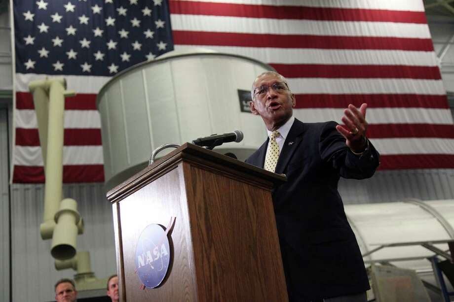 NASA Administrator Charles Bolden discussed the federal budget as well as the future of human space exploration and the International Space Center at Johnson Space Center on Thursday. Photo: Mayra Beltran, Staff / © 2013 Houston Chronicle