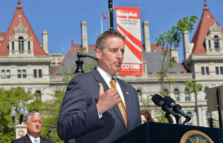 NYS Lt. Gov. Robert Duffy speaks during the announcement of the first tenants of a new building at Wellington Row on State Street in Albany, NY Thursday May 16, 2013.  (John Carl D'Annibale / Times Union) Photo: John Carl D'Annibale / 00022464A