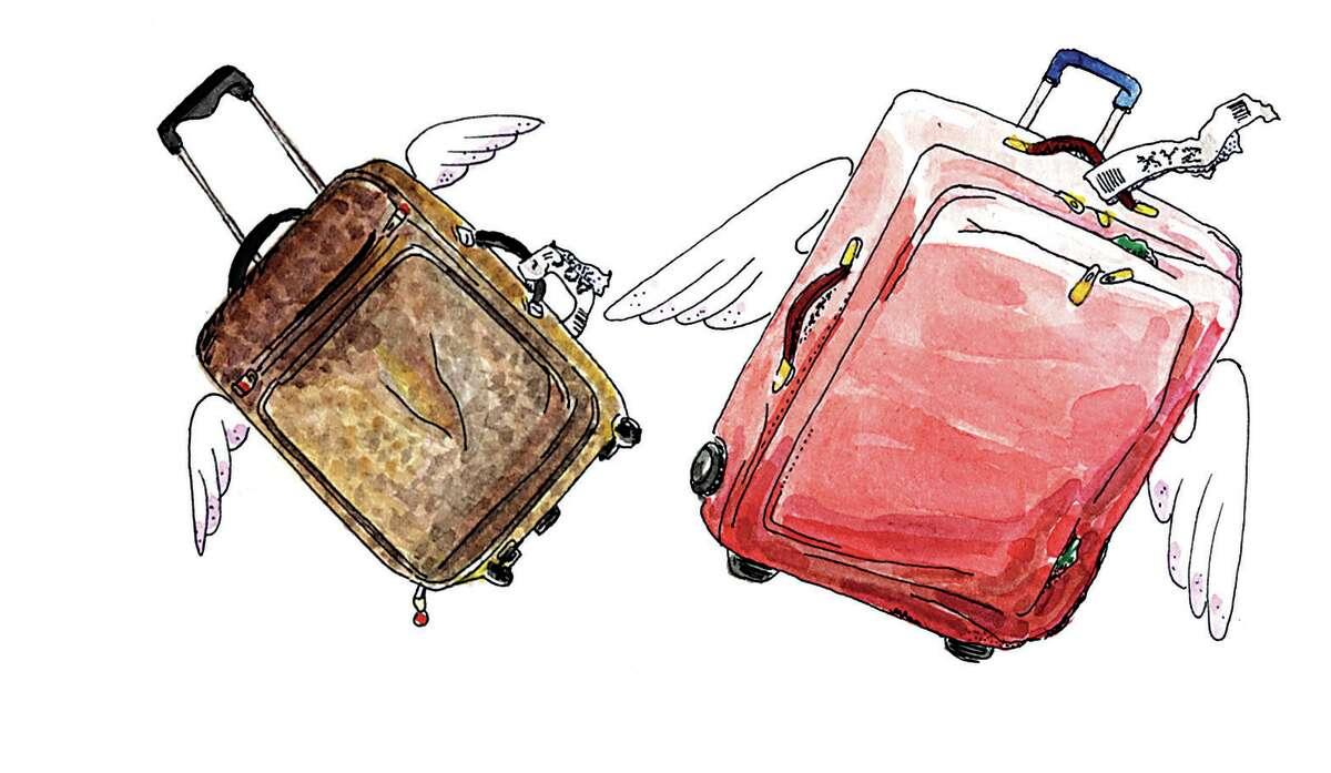 "Chronicle illustration ""Bags"" by Frances Thiel."