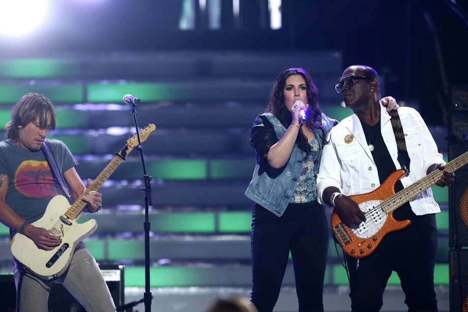 "Keith Urban, from left, Kree Harrison and Randy Jackson perform at the ""American Idol"" finale at the Nokia Theatre at L.A. Live on Thursday, May 16, 2013, in Los Angeles. (Photo by Matt Sayles/Invision/AP) Photo: Matt Sayles, INVL / Invision"