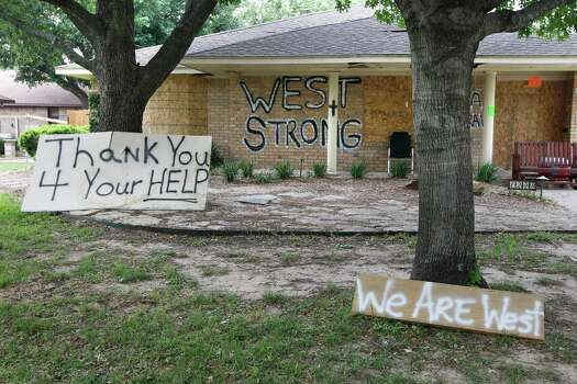 The West explosion destoyed or heavily damaged more than 100 homes, generating an expected $100 million in insured property losses. The people who live on Davis Street are grateful for the help they have received. Photo: RON T. ENNIS, MBR / Fort Worth Star-Telegram
