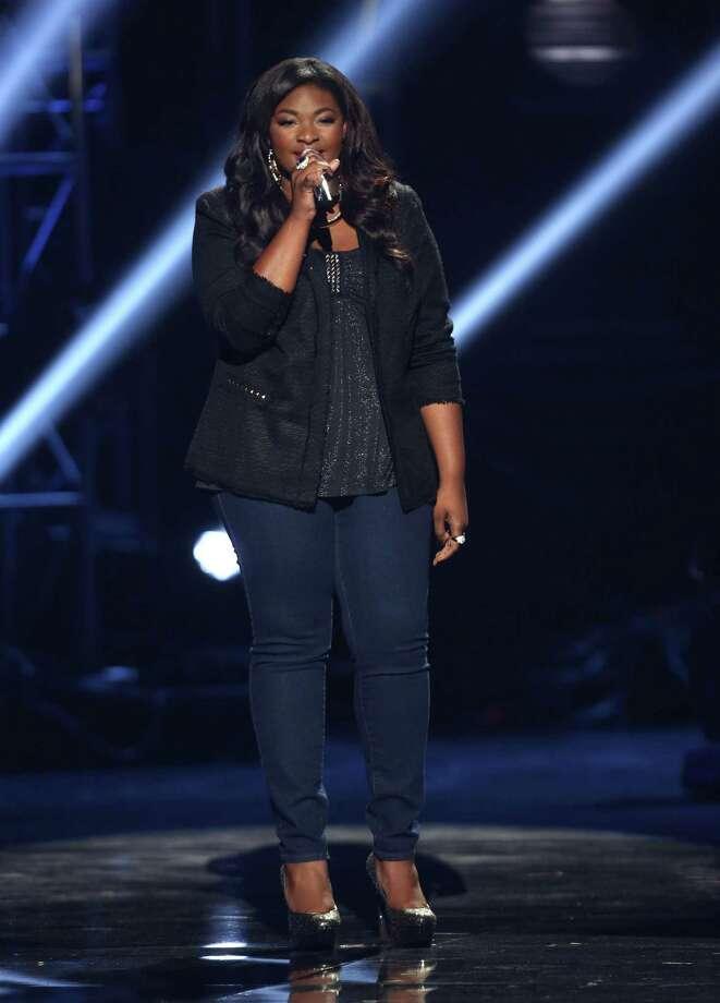"Winner  Candice Glover performs on Thursday's ""American Idol"" finale. Photo: Matt Sayles, INVL / Invision"